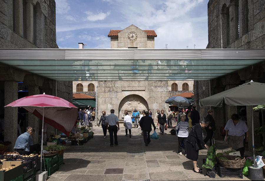 Entrada do Mercado de Abastos. Foto: Iván Barreiro