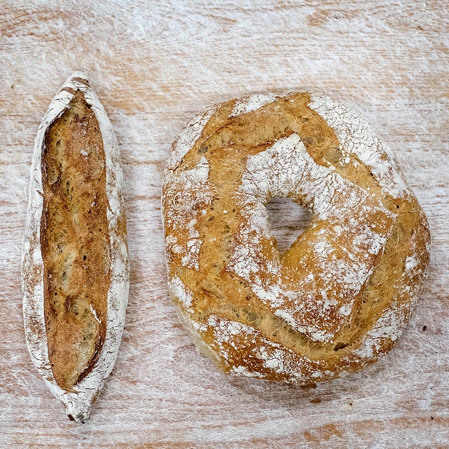 Pezas de pan de Pan da Moa. Foto: Iván Barreiro