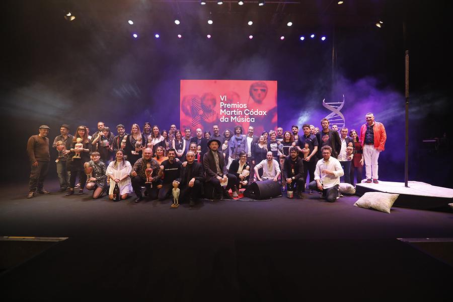 Gañadores dos Premios Martín Códax da Música. Foto: PixelinPhoto