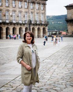 Sara Santos, no Obradoiro. Foto: Iván Barreiro
