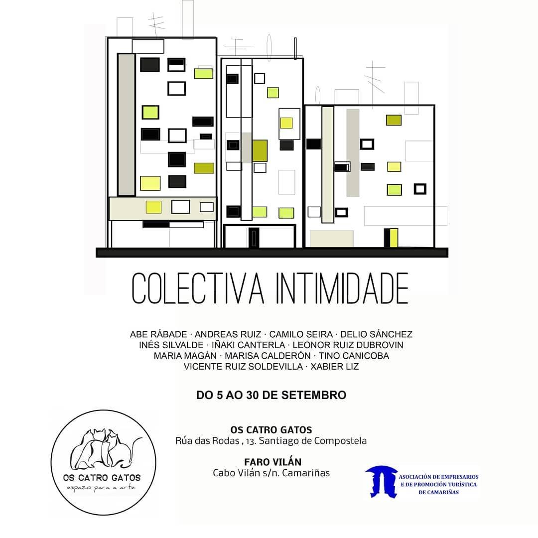 Colectiva Intimidade @ Os Catro Gatos (Santiago) e Faro Vilán (Camariñas)